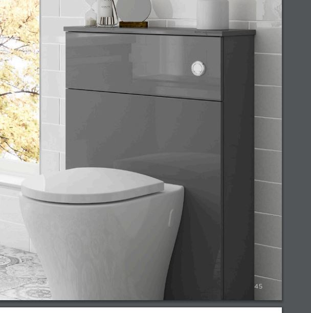 . Origins by Utopia Full Height Back to wall Toilet Unit   50cm 60cm