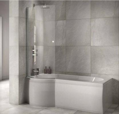 Sommer P Shaped Shower Bath Online 4 Bathrooms